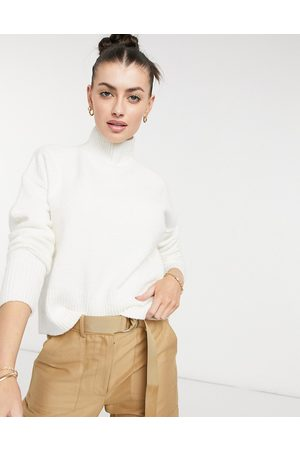 & OTHER STORIES & knitted cropped sweater in off