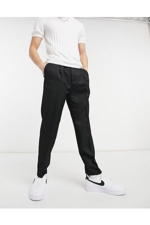 Topman Tapered pronouced twill pants in