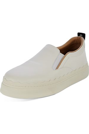 Chloé Women's Lauren Leather Slip On Platform Sneakers