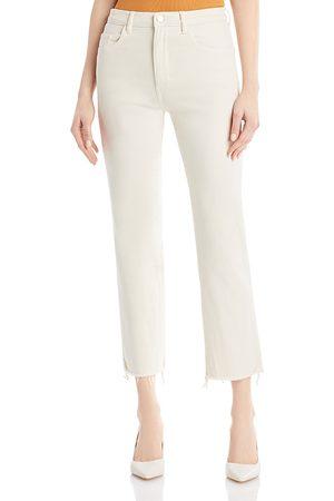 Dl 1961 Patti High Rise Straight Jeans in Ecru