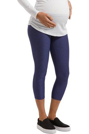 HUE Under-Belly Soft Knit Maternity Leggings