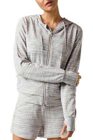 Blanc Noir Luxe Fleece Zip Front Hoodie