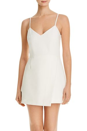 French Connection Whisper Crossover Mini Dress