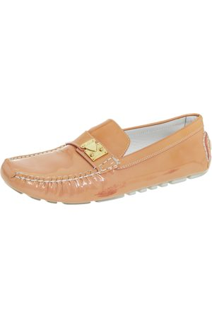 LOUIS VUITTON Patent Leather Lombok Slip On Loafers Size 40
