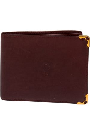 Cartier Maroon Leather Must De 6CC Bifold Wallet