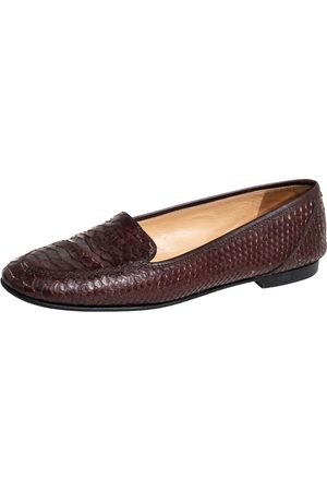 CHANEL Men Loafers - Python CC Slip on Loafers Size 41