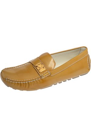 LOUIS VUITTON Patent Leather Lombok Driving Loafers Size 40.5