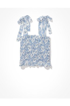 American Eagle Outfitters Tie-Strap Smocked Cami Women's XXS