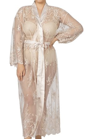Rya Collection Plus Darling Lace Robe