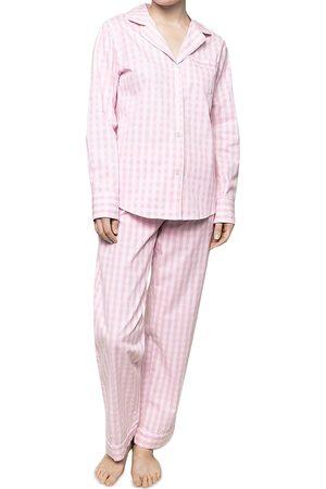 Petite Plume Gingham Cotton Pajama Set