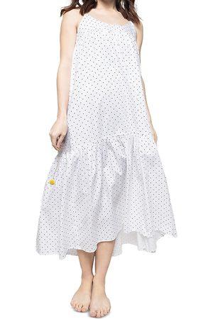 Petite Plume Chloe Dot Print Cotton Nightgown