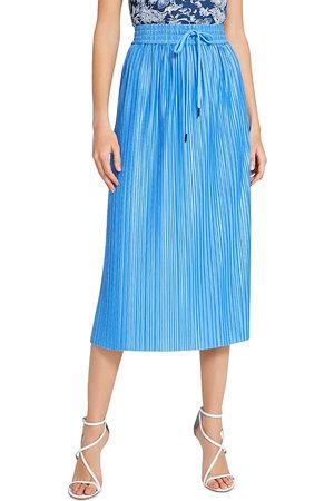 ALICE+OLIVIA Alice + Olivia Dixie Drawstring Pleated Midi Skirt (60% off) Comparable Value $295