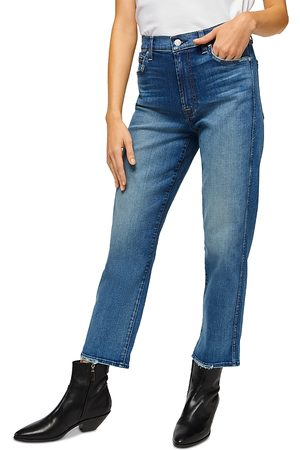 7 for all Mankind High Waist Cropped Straight Leg Jeans in