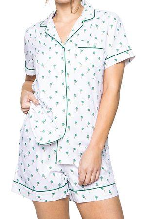 Petite Plume Palmier Cotton Pajama Shorts Set