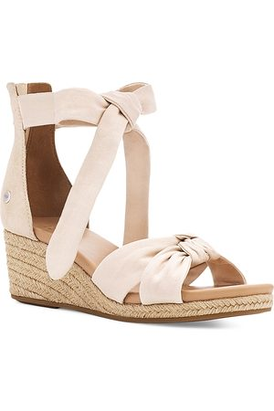 UGG Women's Yarrow Ankle Tie Espadrille Wedge Sandals
