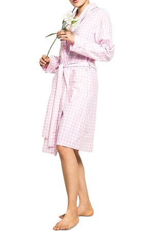 Petite Plume Gingham Cotton Robe