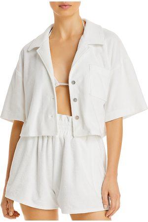 Aqua Swim Cropped Terrycloth Shirt - 100% Exclusive