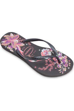 Havaianas Women's Slim Organic Ii Tropical Flower Rubber Flip Flops