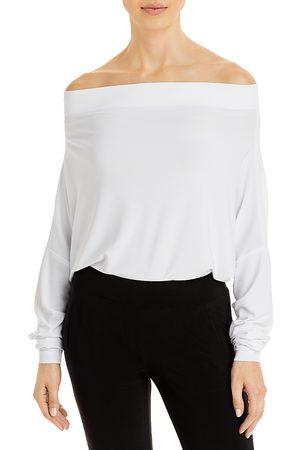 Norma Kamali Off-the-Shoulder Knit Bodysuit