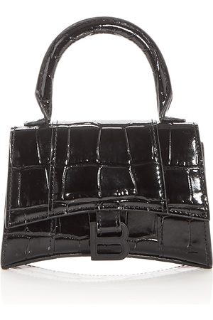 Balenciaga Hourglass Mini Embossed Leather Top Handle Bag