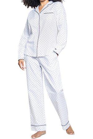 Petite Plume Pin Dots Cotton Pajama Pants Set