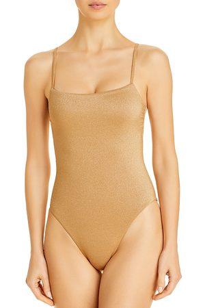 Vitamin A Jenna Metallic One Piece Swimsuit