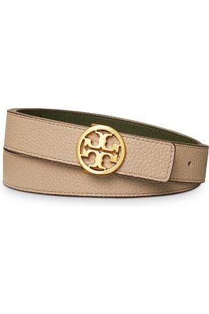 Tory Burch Women's 1 Reversible Leather Logo Belt