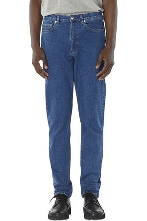A.P.C. A.p.c Middle Standard Relaxed Fit Jeans in Washed Indigo