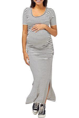 Nom Maternity Hugo Ruched Maxi Dress