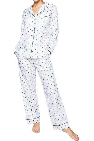 Petite Plume Palmier Cotton Pajama Pants Set
