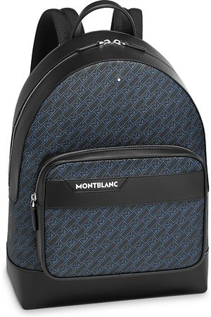 Mont Blanc M Pattern Leather Backpack