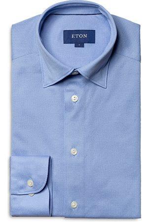 Eton Cotton Pique Solid Slim Fit Casual Shirt
