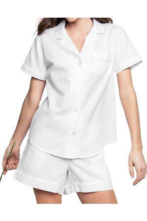 Petite Plume Classic Cotton Pajama Shorts Set