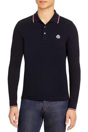 Moncler Maglia Long-Sleeve Flag Trimmed Regular Fit Polo Shirt