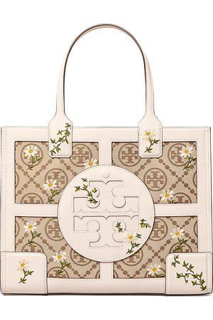 Tory Burch Ella Small Embroidered Jacquard Tote