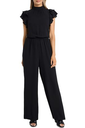 1. STATE Flutter-Sleeve Mock Neck Jumpsuit