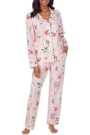 BedHead Printed Notched Collar Pajama Set