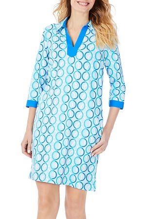Foxcroft Angel 34 Circle Links Printed Jersey Dress