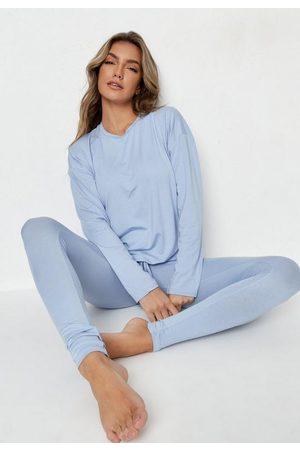 Missguided Drawstring T Shirt And Leggings Loungewear Set