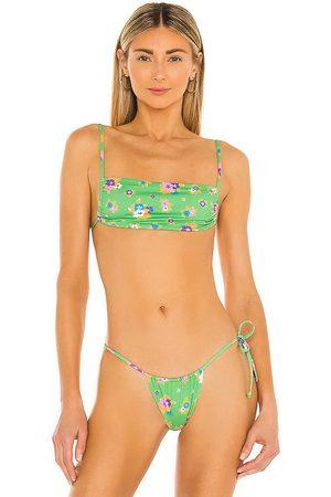 Frankies Bikinis Women Bikinis - Kailyn Bikini Top in Green.