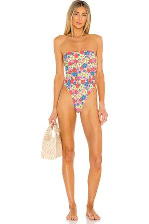 Frankies Bikinis Women Swimsuits - Stella One Piece in Blue,Green.