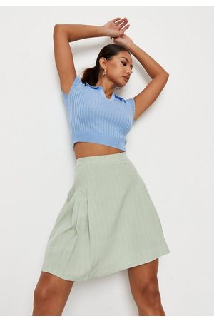 Missguided Tall Check Pleated Mini Skirt