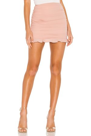 superdown Women Mini Skirts - Sammi Ruched Skirt in Pink.