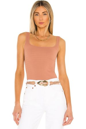 Free People Square Seamless One Cami in Tan.