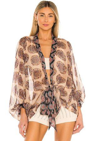 Free People Kantha Shimmer Tie Kimono in Blush.