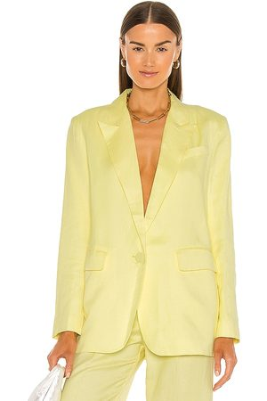 Bardot Women Blazers - Summer Linen Blazer in Yellow.