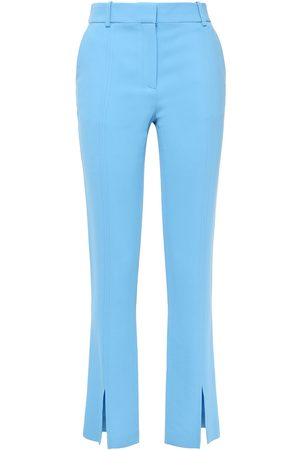 Victoria Beckham Women Skinny Pants - Woman Slit-front Cady Slim-leg Pants Light Size 14