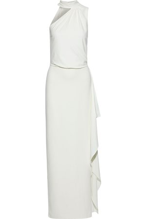 Halston Heritage Women Strapless Dresses - Woman Io One-shoulder Draped Crepe Gown Off- Size 12