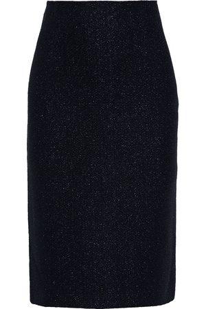 ST. JOHN Woman Metallic Wool-blend Bouclé Pencil Skirt Size 4