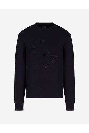 Armani Men Sweatshirts - Sweatshirt Navy Cotton